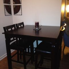 Kitchen Tables Big Lots Nice Espresso Pub Table And Chairs From Works Great