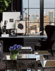 City vs country dark living roomschelsea nycfamily officecontemporary home officestop interior designersluxury also top designers columns and urban rh pinterest