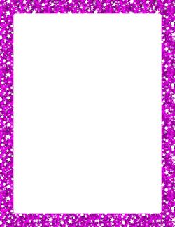 purple glitter border marcos frame