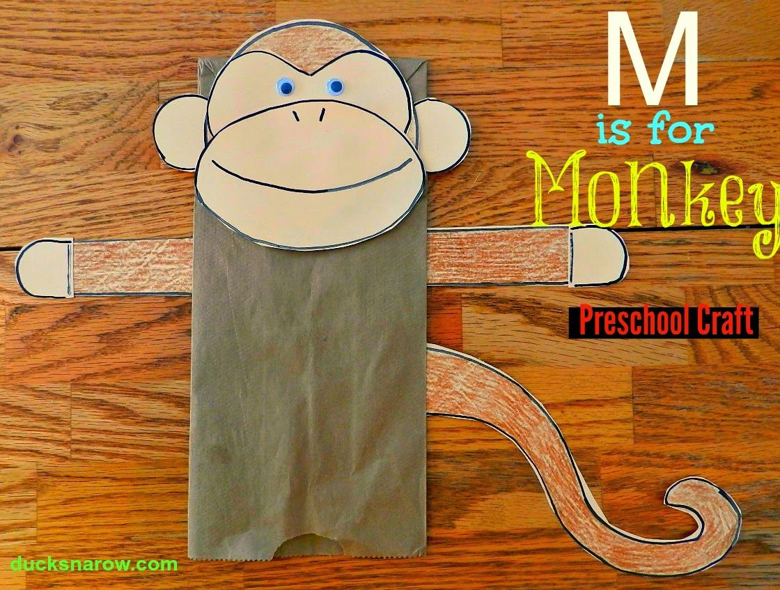 M Is For Monkey Preschool Craft