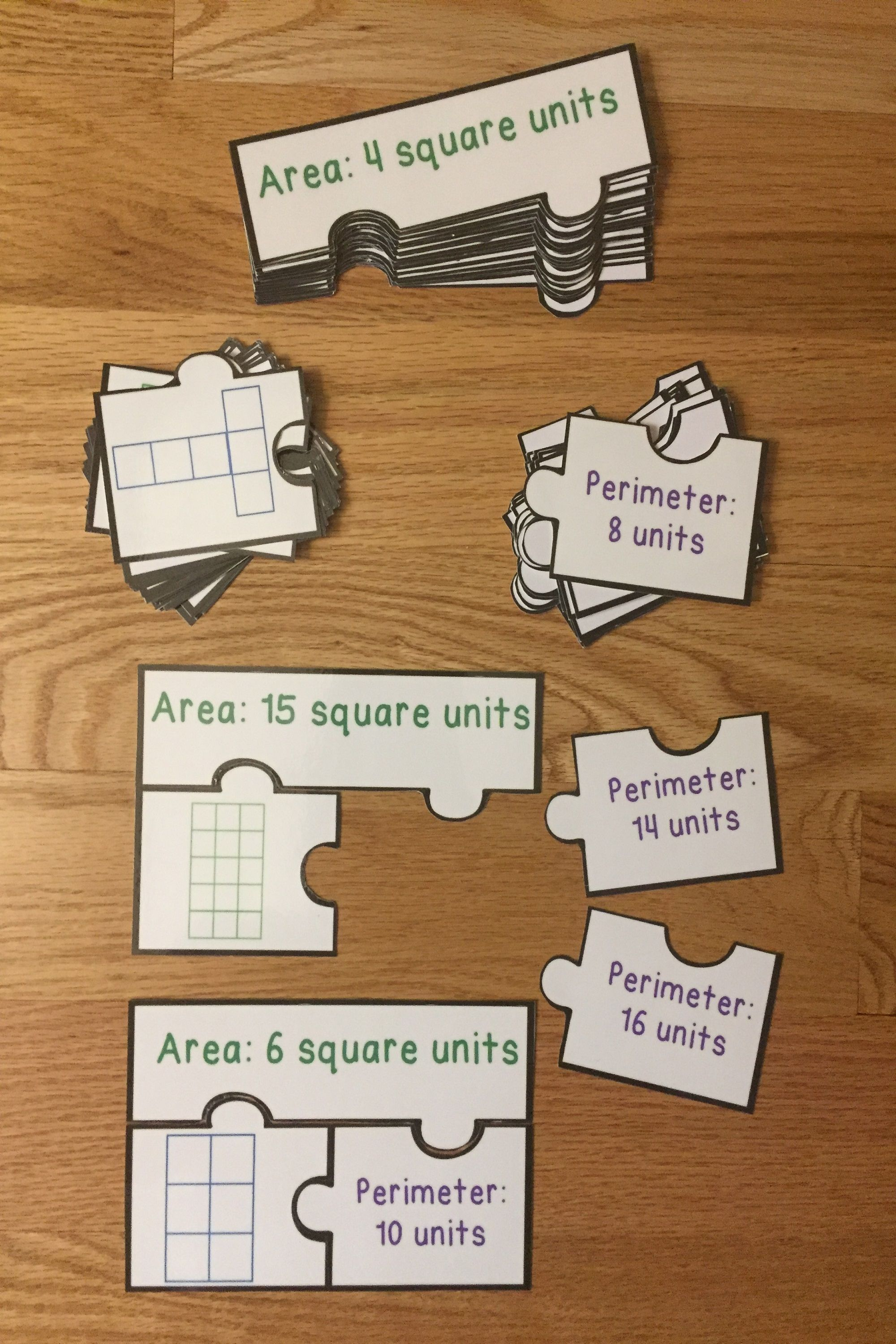Counting Square Units Area And Perimeter Game Puzzles 3 Md 5 Amp 3 Md 6