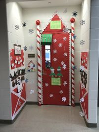 Christmas classroom door decorations-Santa's workshop ...