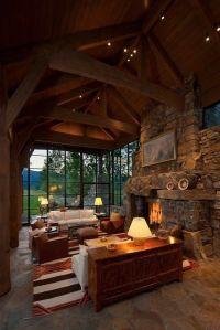 Gorgeous Rustic Cabin Interior Idea (10)   Cabin ...
