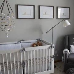 Glider Chair For Nursery White Folding Covers Bulk Nursery. Light Gray Walls, Crib With Dark Rocker/glider. | Baby Room Decor ...