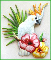 Parrot Metal Art - Tropical Metal Wall Art,Cockatoo Parrot ...