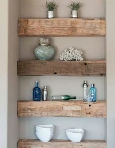 Home decor ideas easy also  good idea to put over toilet if the area recedes into wall in space like must do beach hut pinterest country living shelving and rh