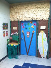 Island Adventures-Hawaiian-Luau-beach-classroom-door ...