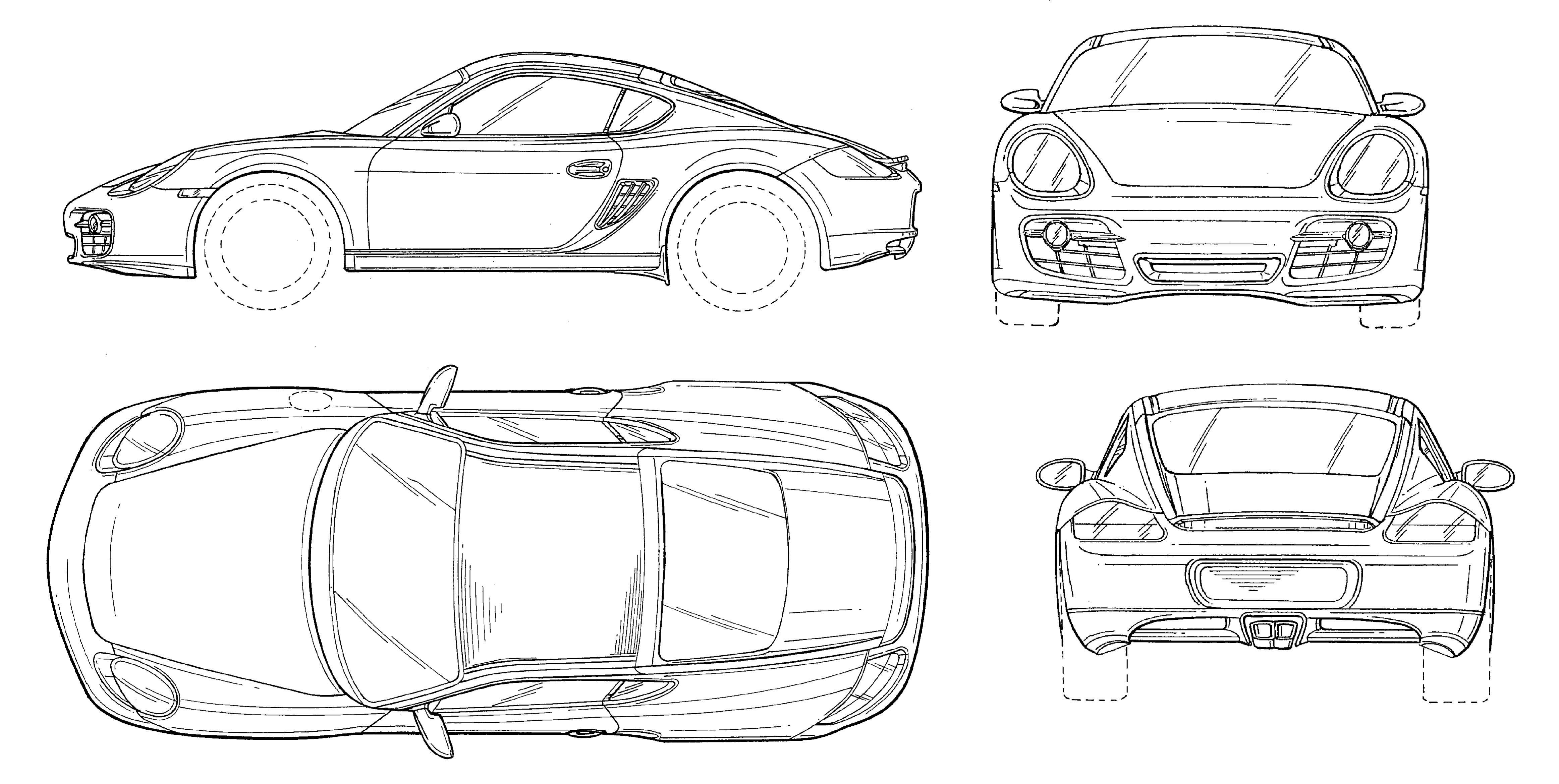 Porsche Cayman Blueprint