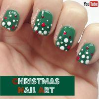 Easy Christmas Nail art for short nails - Sephora +video ...