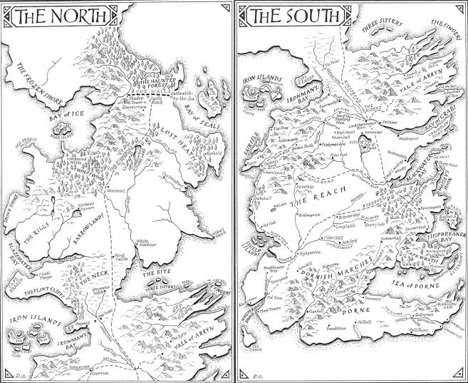 Image result for game of thrones map book 1