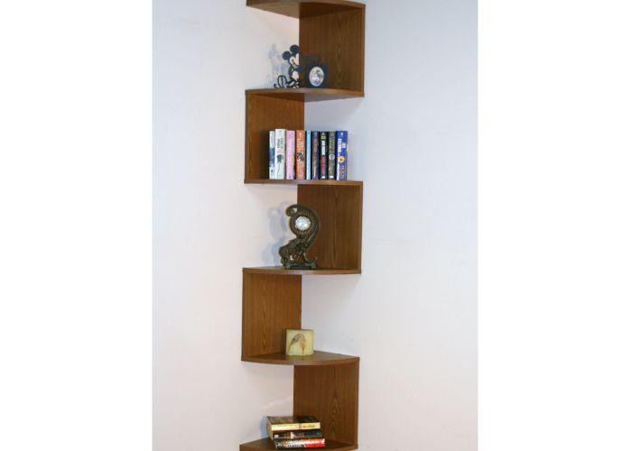 Premier shelf corner bookcase oak also have to it