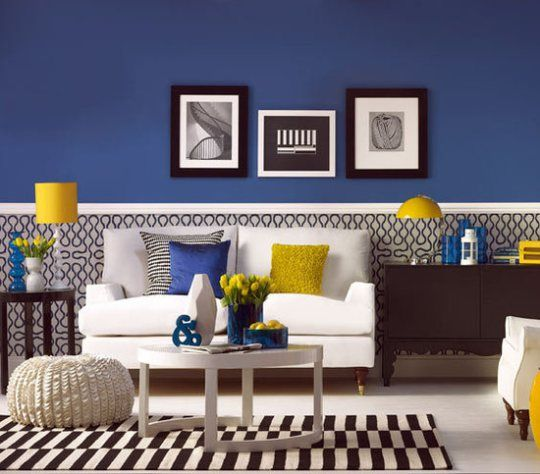 Have fun with blue and yellow rooms living roomsliving room ideasliving also accents rh pinterest