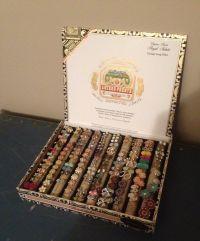 Cigar Box earring holder for stud earrings | DIY ...