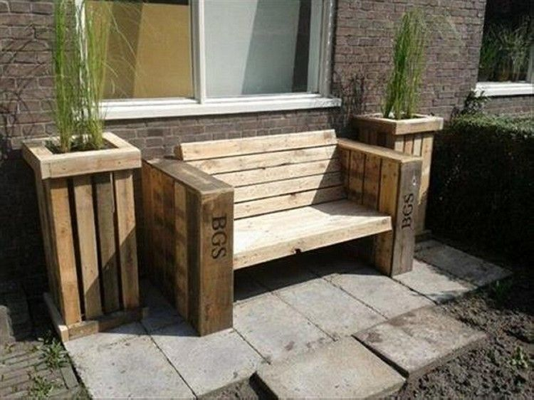 Wood Pallet Garden Bench Ideas Gardens Furniture And Pallets