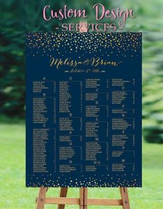 Wedding seating chart template poster alphabetical guest also rh pinterest