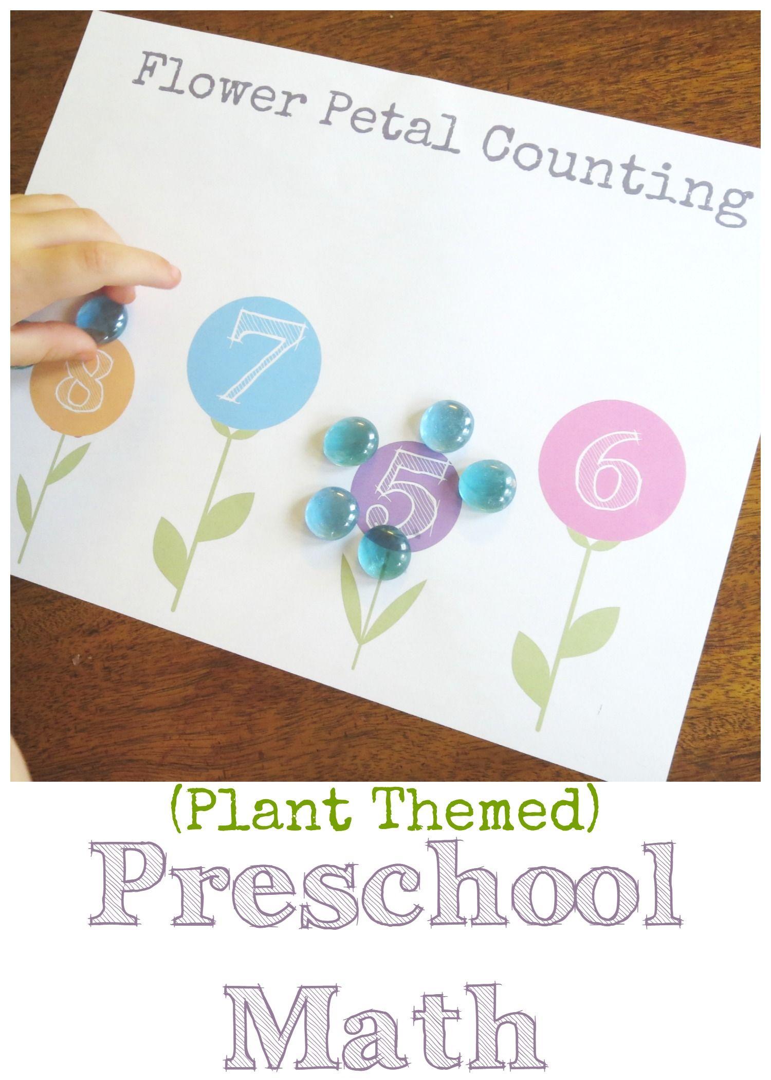 Plant Themed Preschool Math