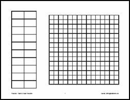 Table and Graph paper all in one template; Great for