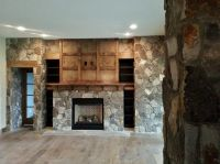 natural stone, gas fireplace, stone veneer, interior ...