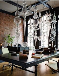 Jessica helgerson interior design has designed  luxurious dark and glamorous private office located in an historic gothic revival building downtown also right decoration choice at work nterior designs pinterest rh
