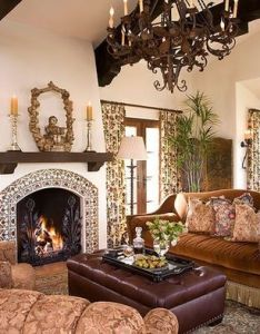 Spanish colonial interior design by kyser interiors also  love the tiles dark wood against white wall with rh pinterest
