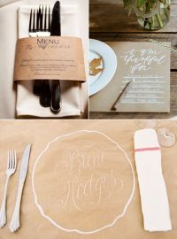 Kraft Paper Table Settings - From left to right: Cat Mayer ...