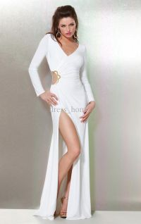 White Party Dresses With Sleeves