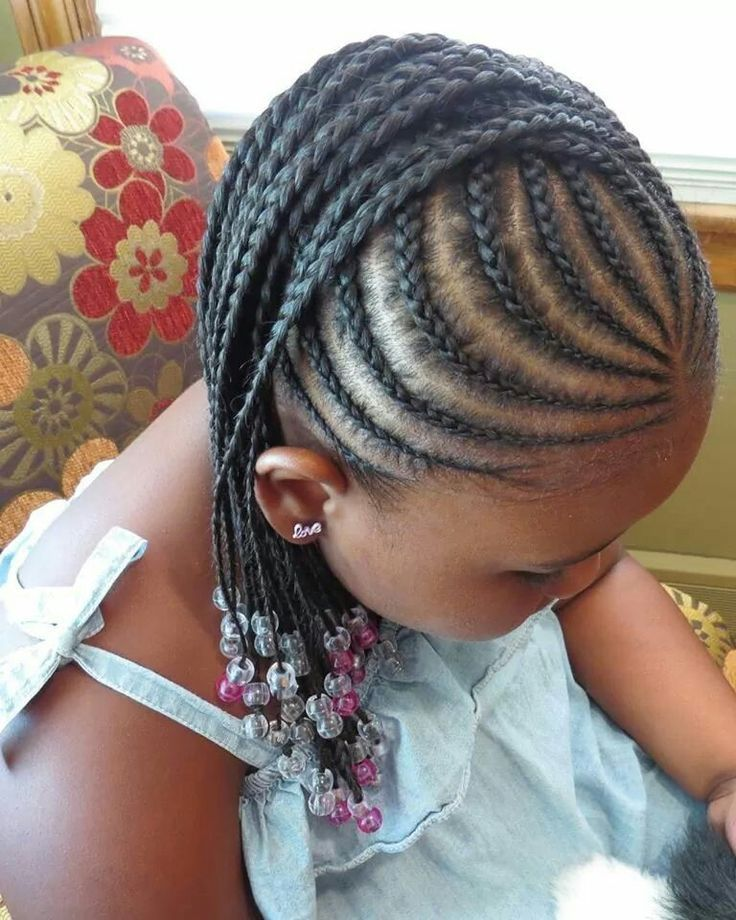 Little Black Kids Braids Hairstyles Picture Leite Pinterest