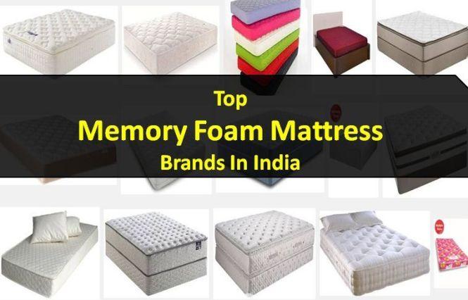 Top Memory Foam Mattress Brands In India