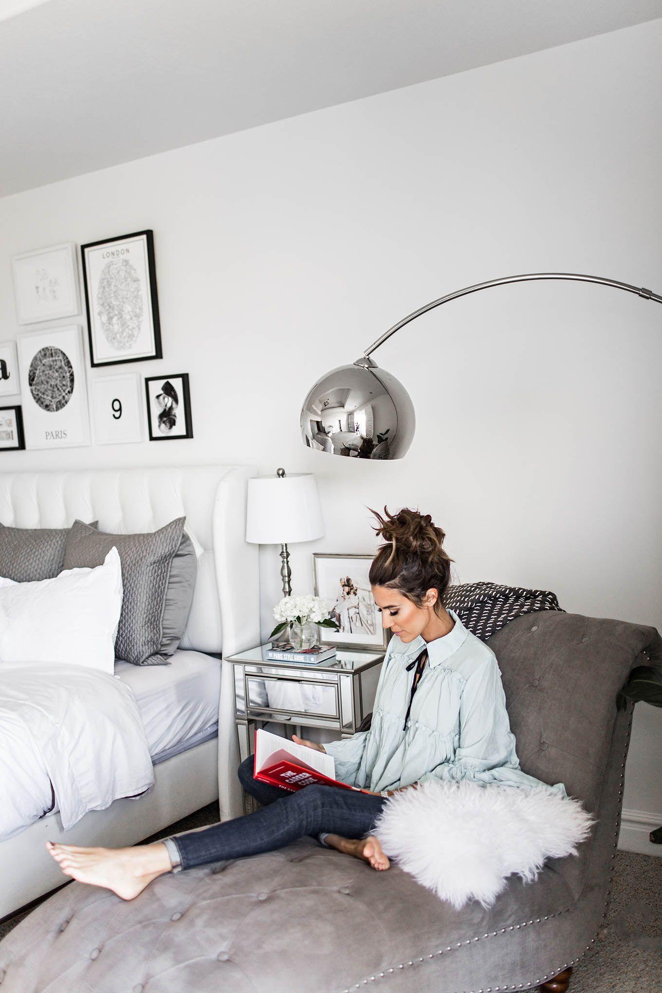 Black Grey and White Bedroom Interiors  Interior Design