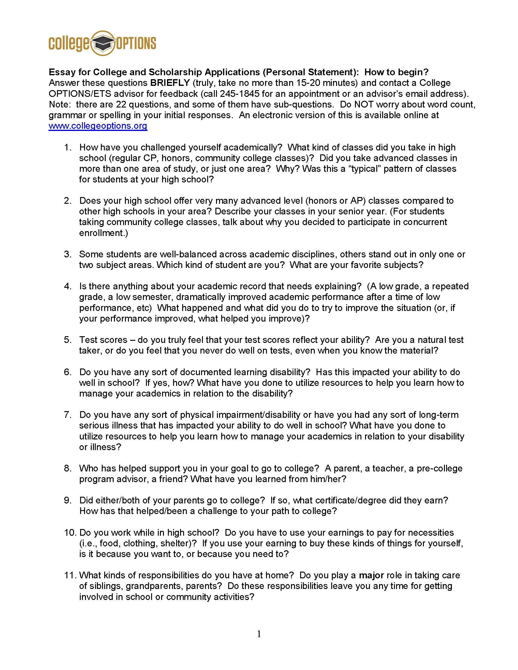 College Options Tips For Writing Your Scholarship
