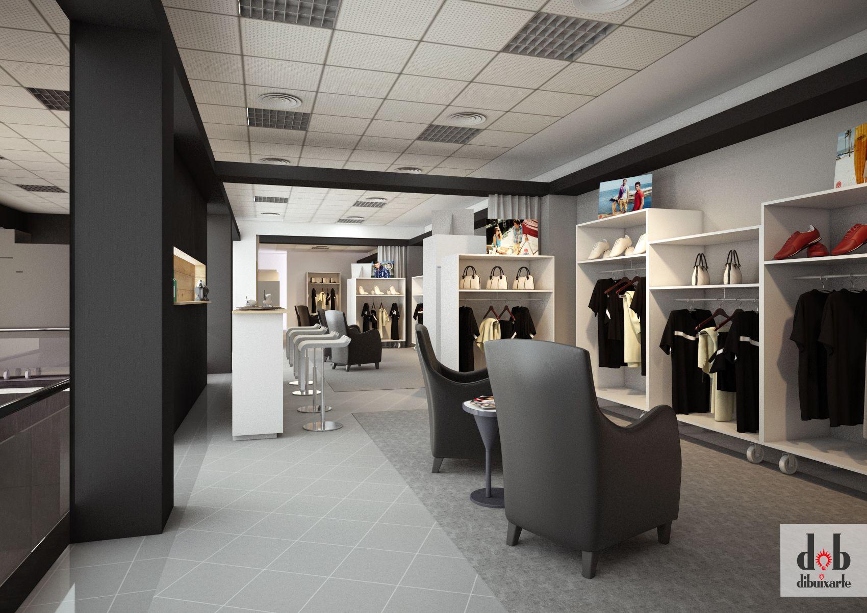 Diseo de showroom para tienda de ropa en Alzira Trabajo realizado para una empresa de montaje eventos de Valencia  Interiores_Dibuixarte