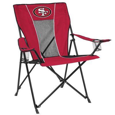 49ers camping chair patio swivel rocker logo brands game time nfl team san francisco