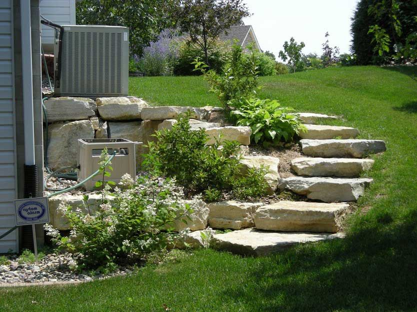 Designing Steep Hill Landscaping For Small Garden Ideas In The