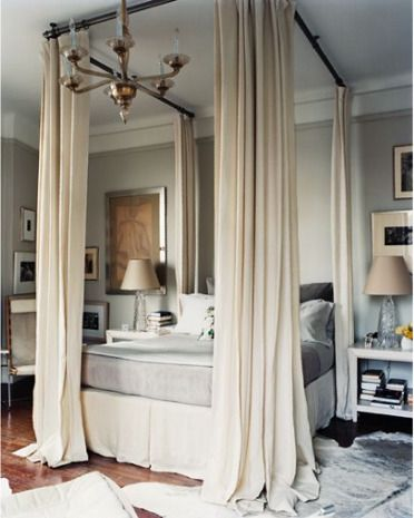 Modern Bedroom Design Idea Bed Curtains Curtain Rods Diy