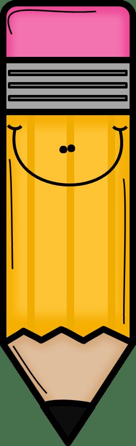 orange pencil clip art egitim