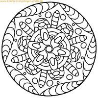 Malvorlage Mandala für Kinder   Mandalas   Pinterest ...