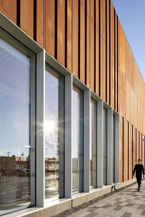 Faulknerbrowns Completes Rusted-steel Community Centre Weathering Steel Facades And Architects