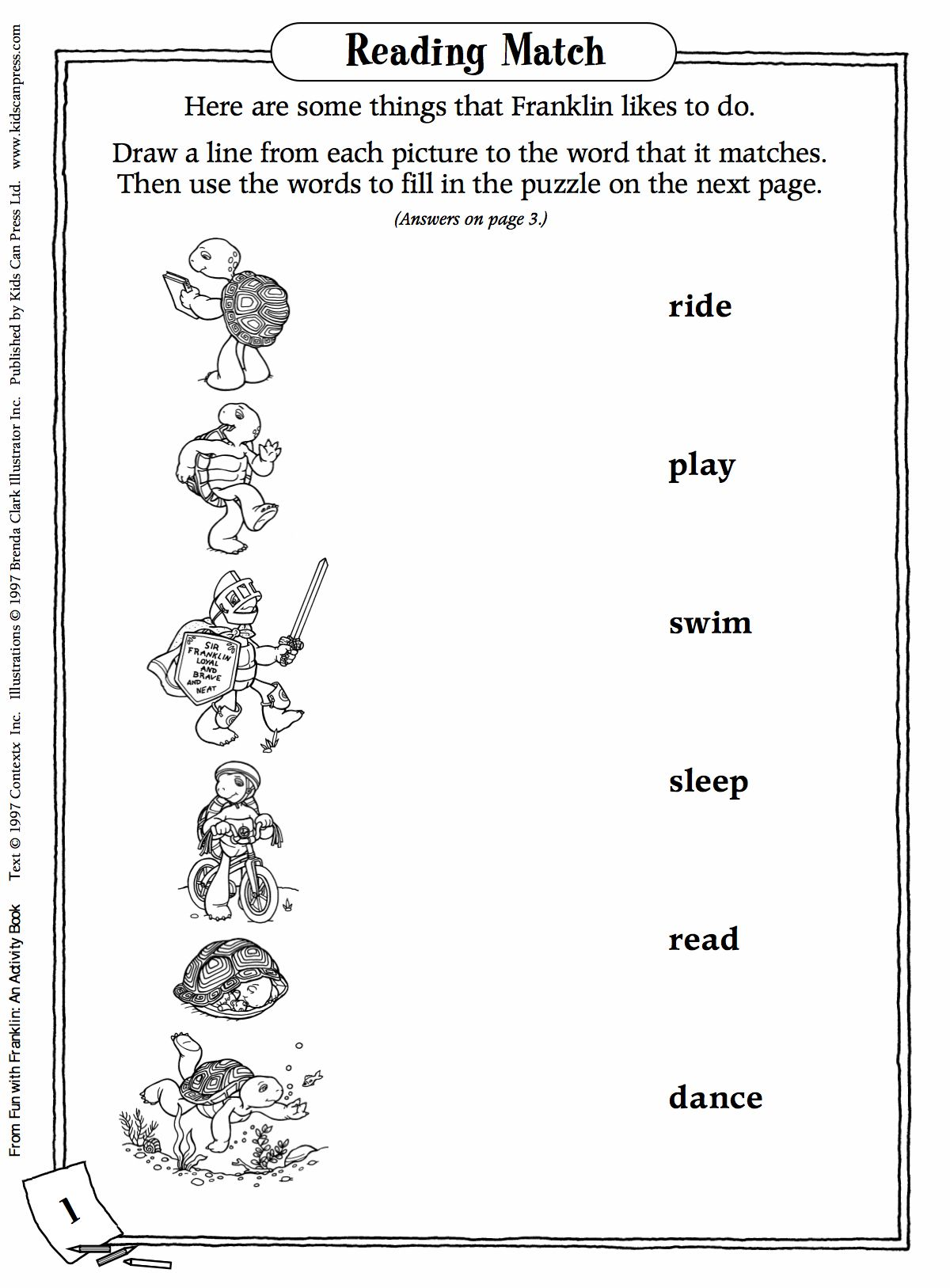 Franklin Turtle Preschool Worksheets Franklin Best Free