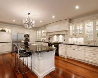 Black and WHite kitchen French Contemporary chick! French ...