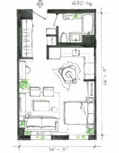 smart studio apartment layouts that work wonders for one room living also rh pinterest