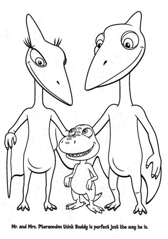 Free Printable Dinosaur Train Coloring Pages for Kids