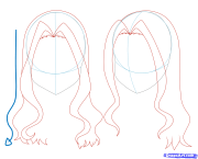 girl anime hair drawing visuals