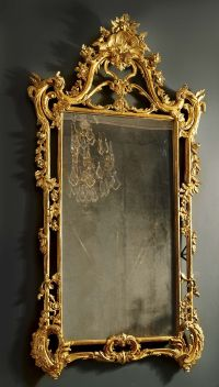 Antique English Rococo Gilded Mirror | Furniture Props ...