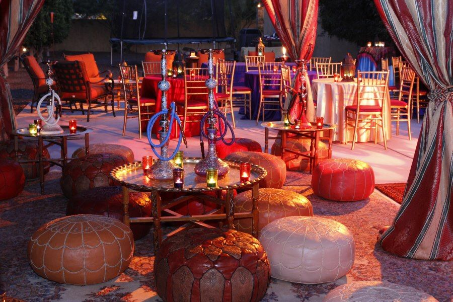 Hookah Lounge With Moroccan Decor! Come to Lux Lounge in