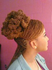sisterlocs twisted coiled updo