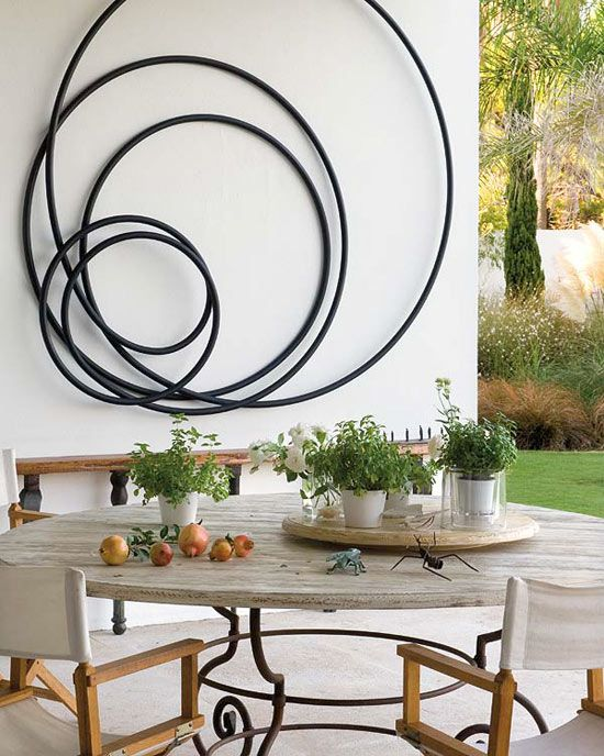 Large horchow outdoor mingling circles wall art decor plaque patio garden metal ebay pinterest also rh in