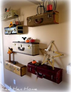 diy vintage suitcase decorating ideas to create suitcases for accessorizing  room extra storage or repurposed into piece of furniture also idea turn unique shelf wall home rh za pinterest