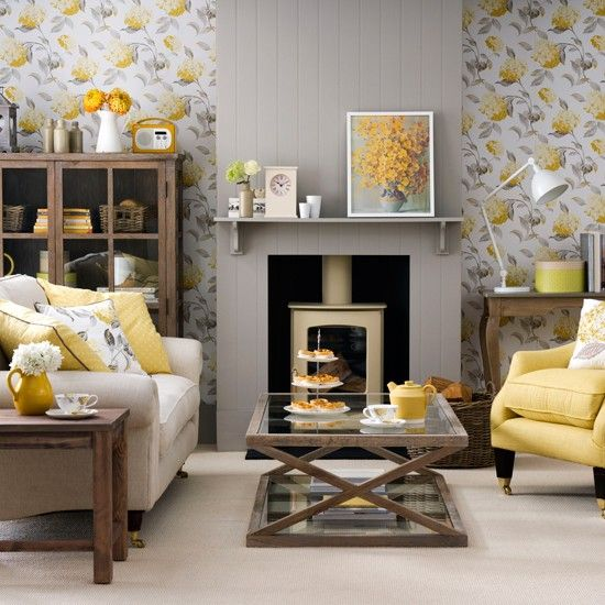 Grey And Yellow Colour Schemes Living Room Grey Living Rooms