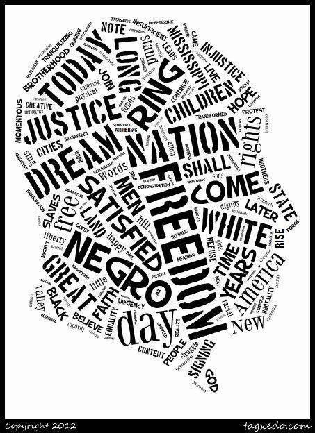 Black history month word cloud- Could be cool as a
