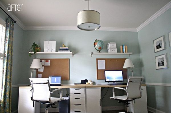 home office computer desks for two people Two Person Desk on Pinterest | Chiropractic Office Decor